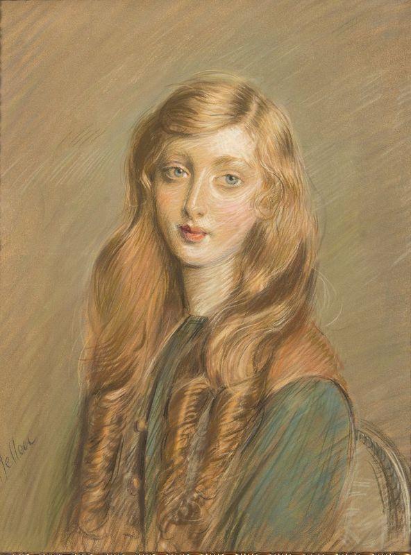 PAUL CESAR HELLEU (1859-1927) Jeune Femme Blonde - Signed 'Helleu' (lower [...]