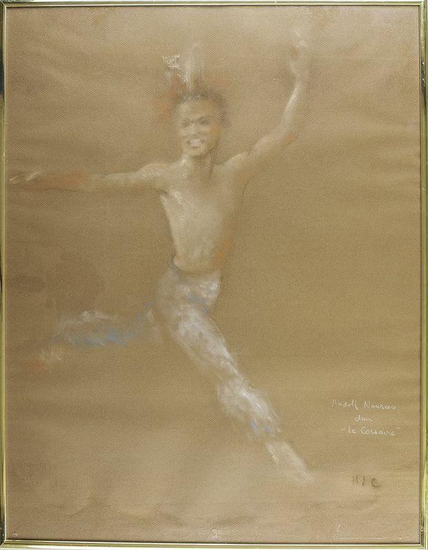 """Michèle Lepoutre Rudolf Noureev dans """"le Corsaire"""" - Titled (lower [...]"""