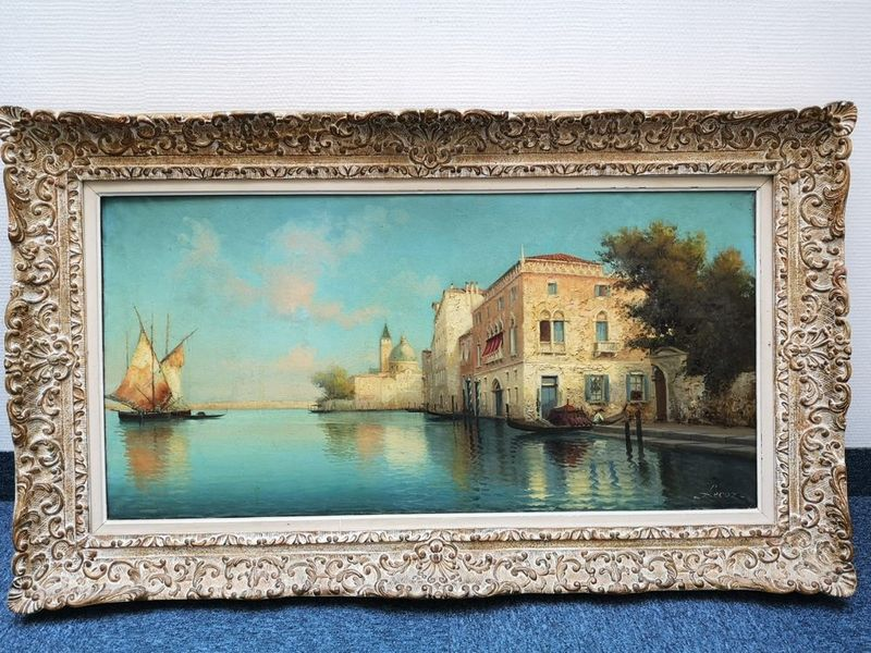 Alphonse LECOZ (XIX-XX) Venetian canal - Signed 'Lecoz' (lower right) Oil on [...] - Bild 2 aus 2