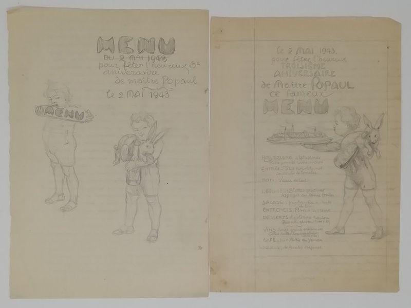 Charles-Léonce Brossé (1871 - ?) Advertising projects, menus, original drawings [...] - Bild 2 aus 4