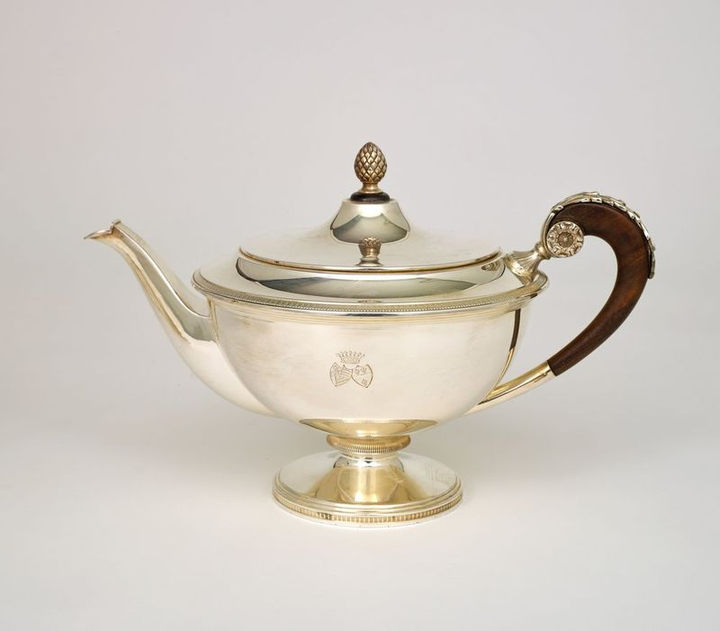 SILVER TEA AND COFFEE SERVICE SET FROM VIENNA BY ALEXANDER STURM - Silver set, 7 [...] - Bild 3 aus 5