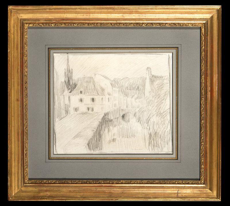 HENRI EUGÉNE AUGUSTIN LE SIDANER (1862 – 1939) Rue à Pont Aven 1913 - Signed [...] - Bild 2 aus 2