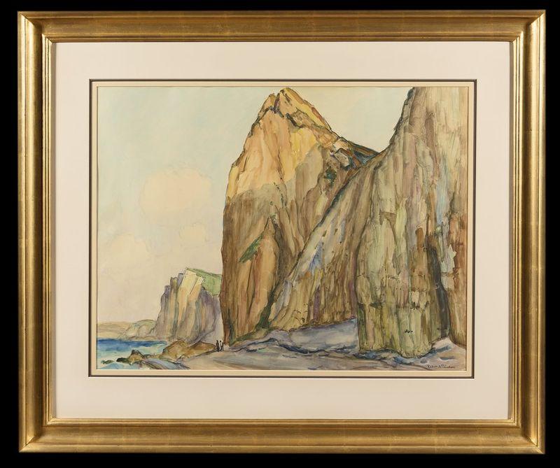 ROBERT ANTOINE PINCHON (1886-1943) Falaises a Varengeville - Signed lower right [...] - Bild 2 aus 2