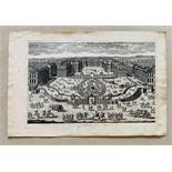 Pierre Aveline (1656-1722) View of Versailles - Etching End of XVII century - [...]