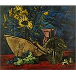 Still life with sunfowers and grapes - Signed (lower right) Oil on canvas 55 x 65 [...]