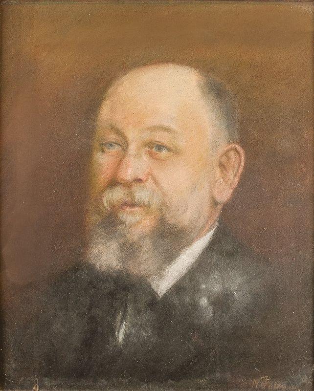 Noemia PALDANI (1842-1906) Portrait of a man - Signed 'N Paldani' (lower [...]