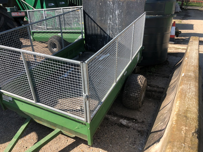 Lot 24 - TFM Engineering lightweight trailer to suit Quadbike or compact tractor (contents not included)