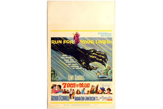 Movie Poster Window Card 7 Faces Of Dr Lao Run For Your Lives