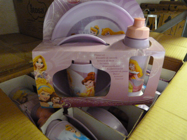 Lot 48 - *Box of 12 Four Piece Disney Princess Dinner Sets