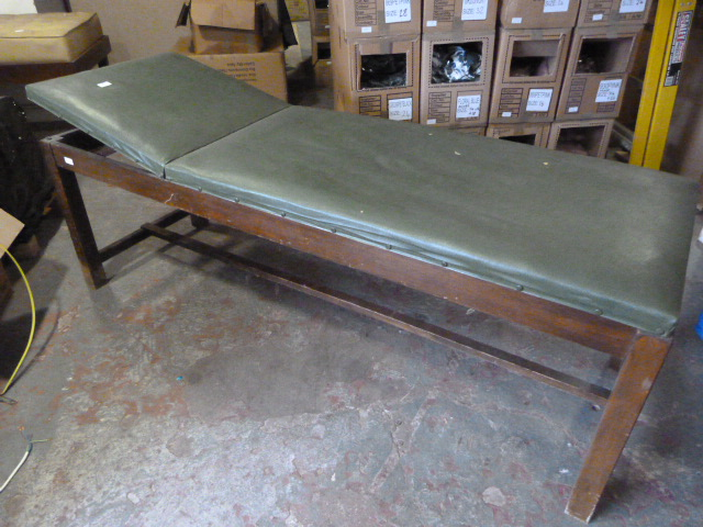 Lot 46 - Green Leatherette Adjustable Examination Couch
