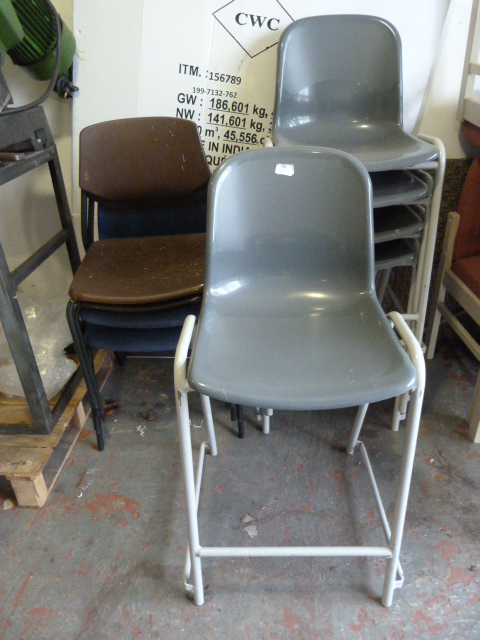 Lot 45 - Nine Assorted Stackable Chairs