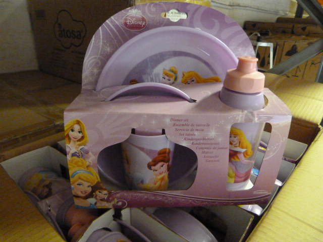 Lot 51 - *Box of 12 Four Piece Disney Princess Dinner Sets