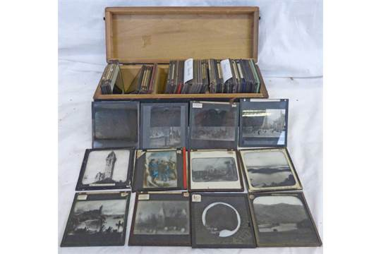 70 Assorted Magic Lantern Glass Slides In Scotland France And