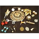 Parcel of Costume Jewellery Includes Brooches