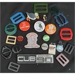 Vintage Badges & Buckles Includes Car Badges