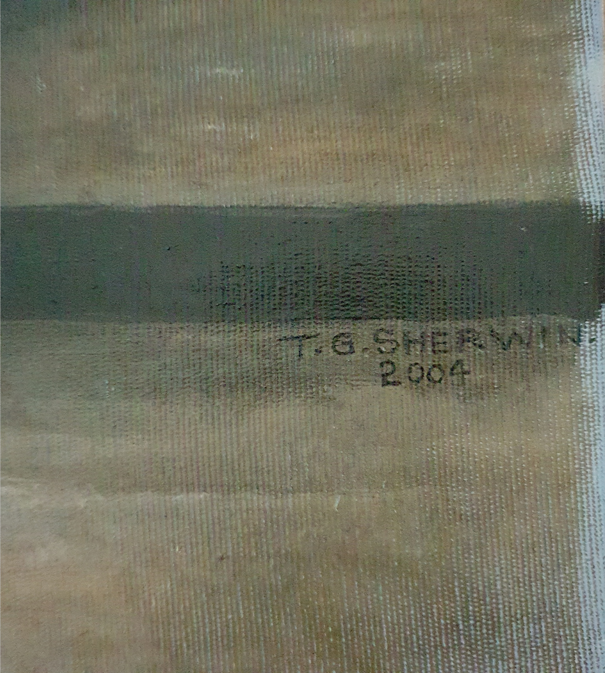 Vintage Art Painting Large Oil on Canvas Knights Templar Signed Lower Right T. G. Sherwin - Image 2 of 6
