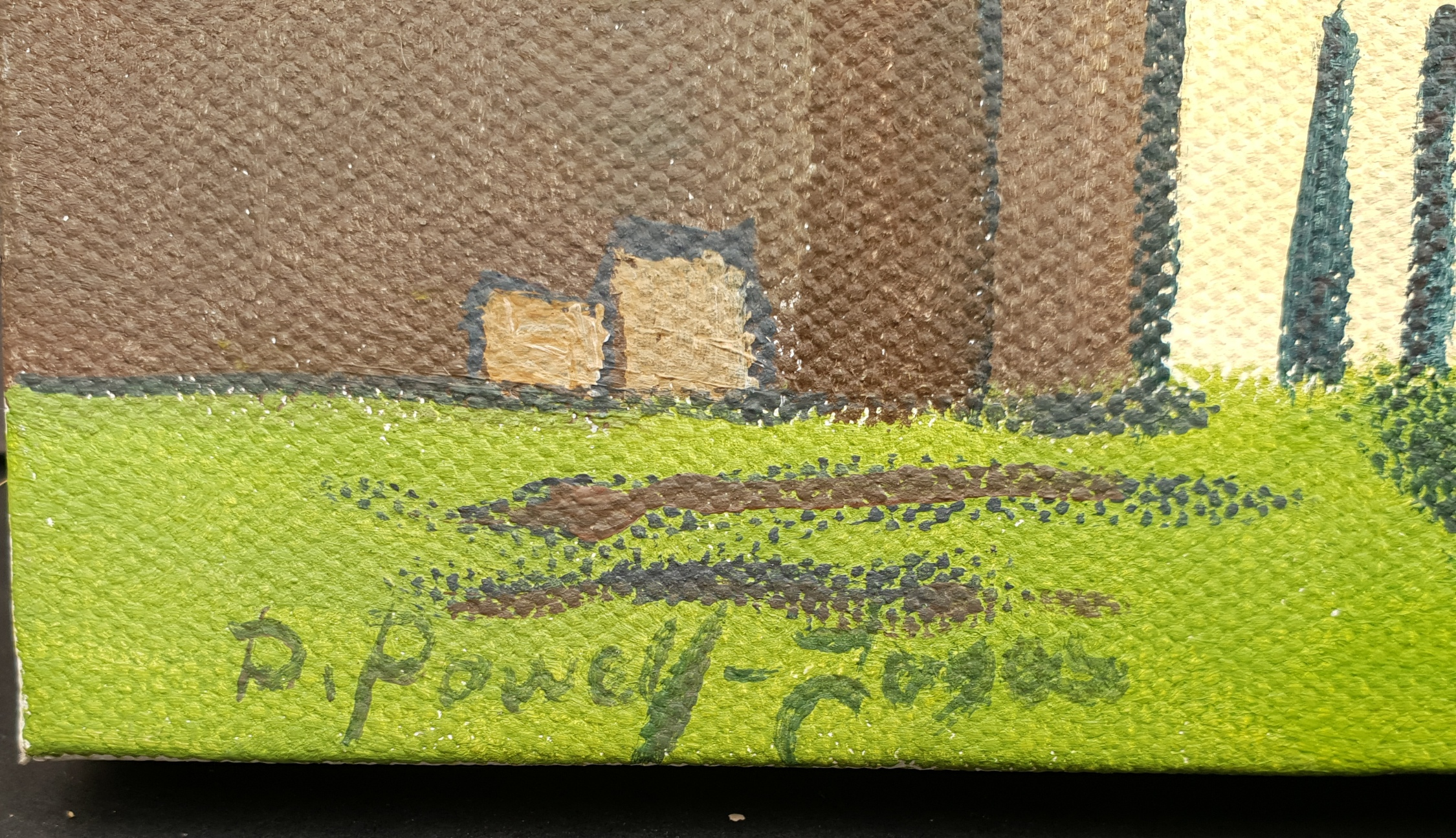 Vintage Art Painting Oil On Canvas After L. S. Lowry Coming From The Mill. - Image 2 of 4