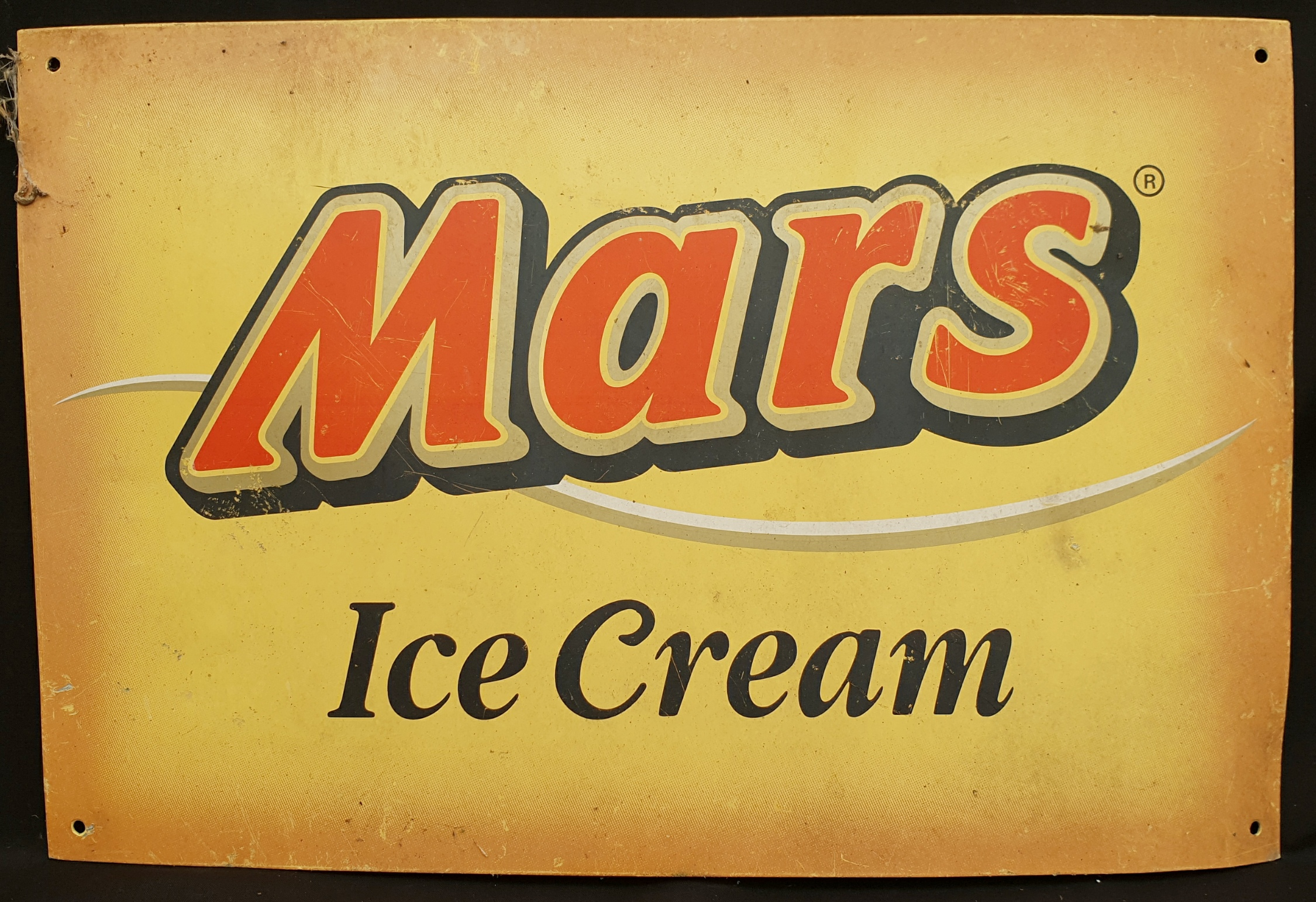 Vintage Retro Metal Mars Ice Cream Wall Shop Advertising Sign