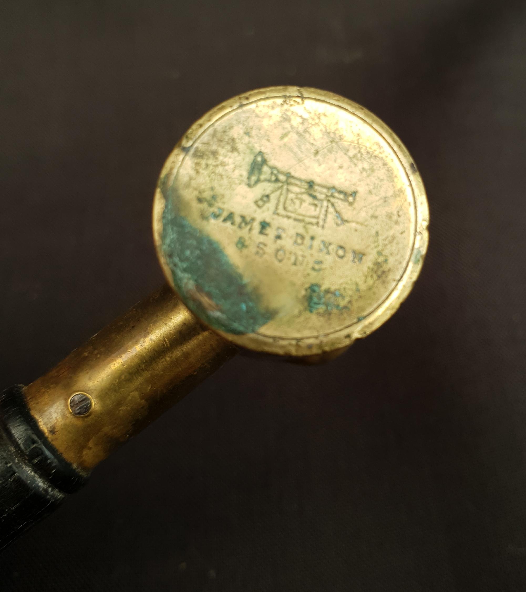 Antique Shooting 2 x Dixon & Co Black Powder Measures & Bussey Brass Measure - Image 3 of 4