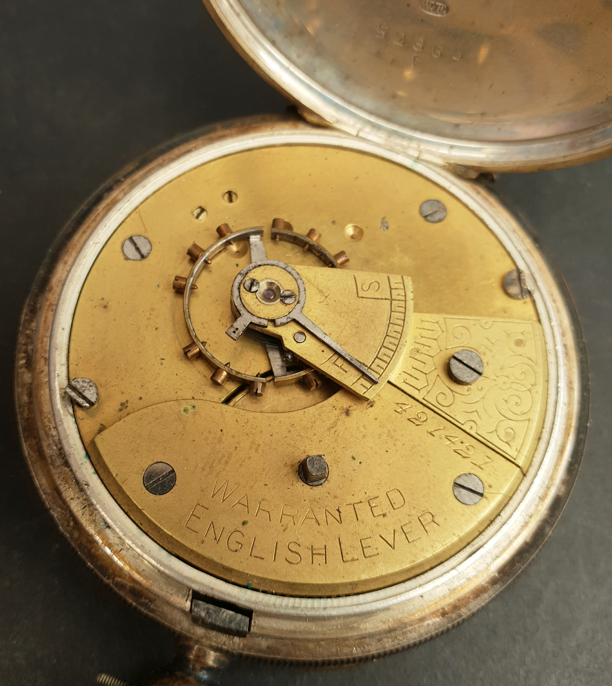 Antiques Silver Cased English Lever Pocket Watch - Image 2 of 4