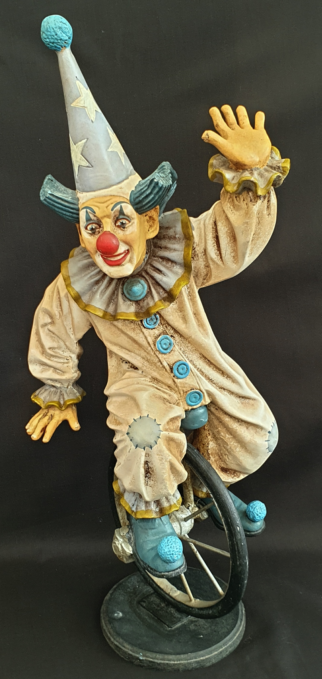 Vintage Collectable Model Clown One on A Mono Cycle - Image 2 of 4
