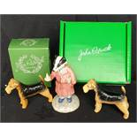 Vintage Beswick Figures Badger & Dogs