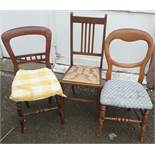 Antique 3 x Chairs Various Shapes