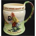 Antique Crown Devon Fielding Musical Tankard On Ilkla Moor Baht' At