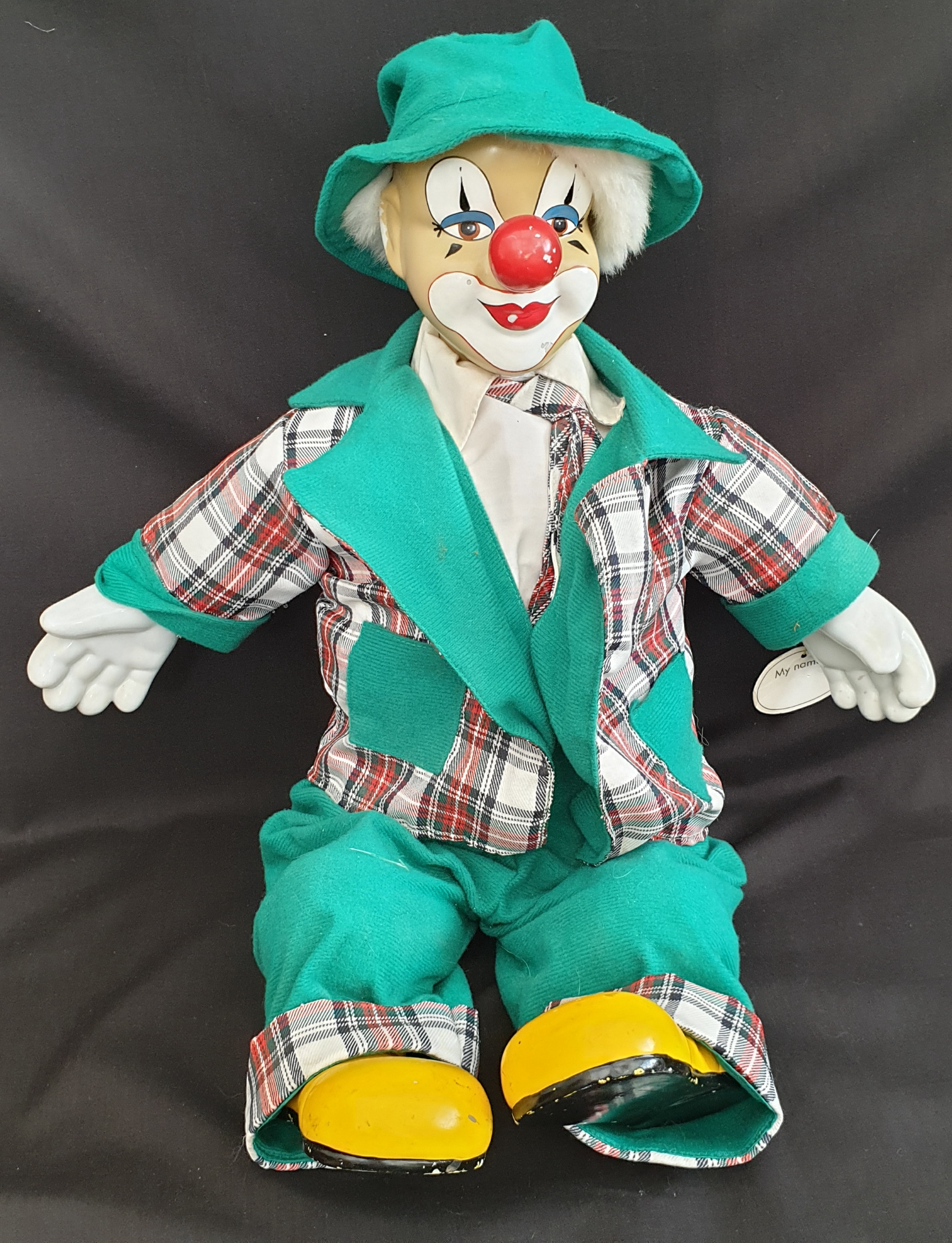 Vintage Collectable Model Clown One on A Mono Cycle - Image 3 of 4