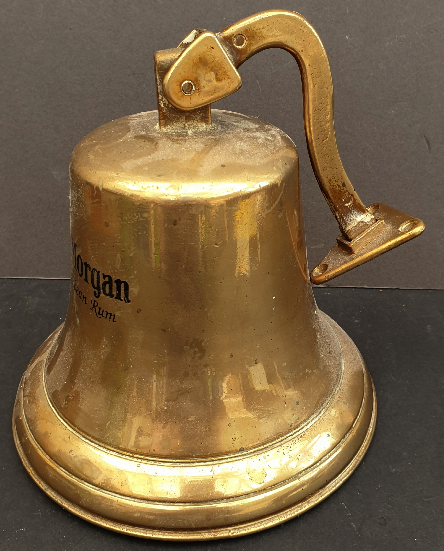 Vintage Captain Morgan's Rum Brass Ship's Bell - Image 2 of 3