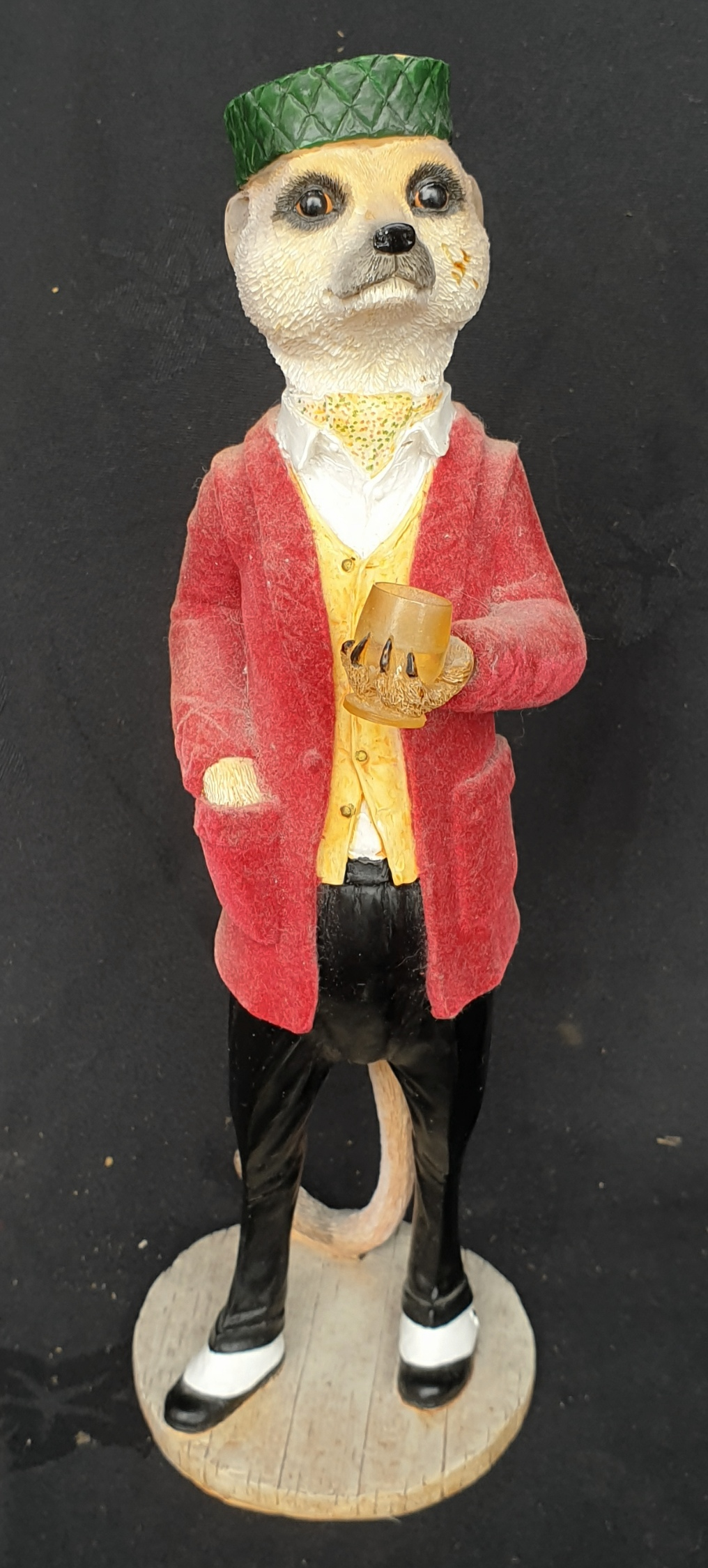 Vintage Resin Meerkat Figure Alexei 10 Inches Tall