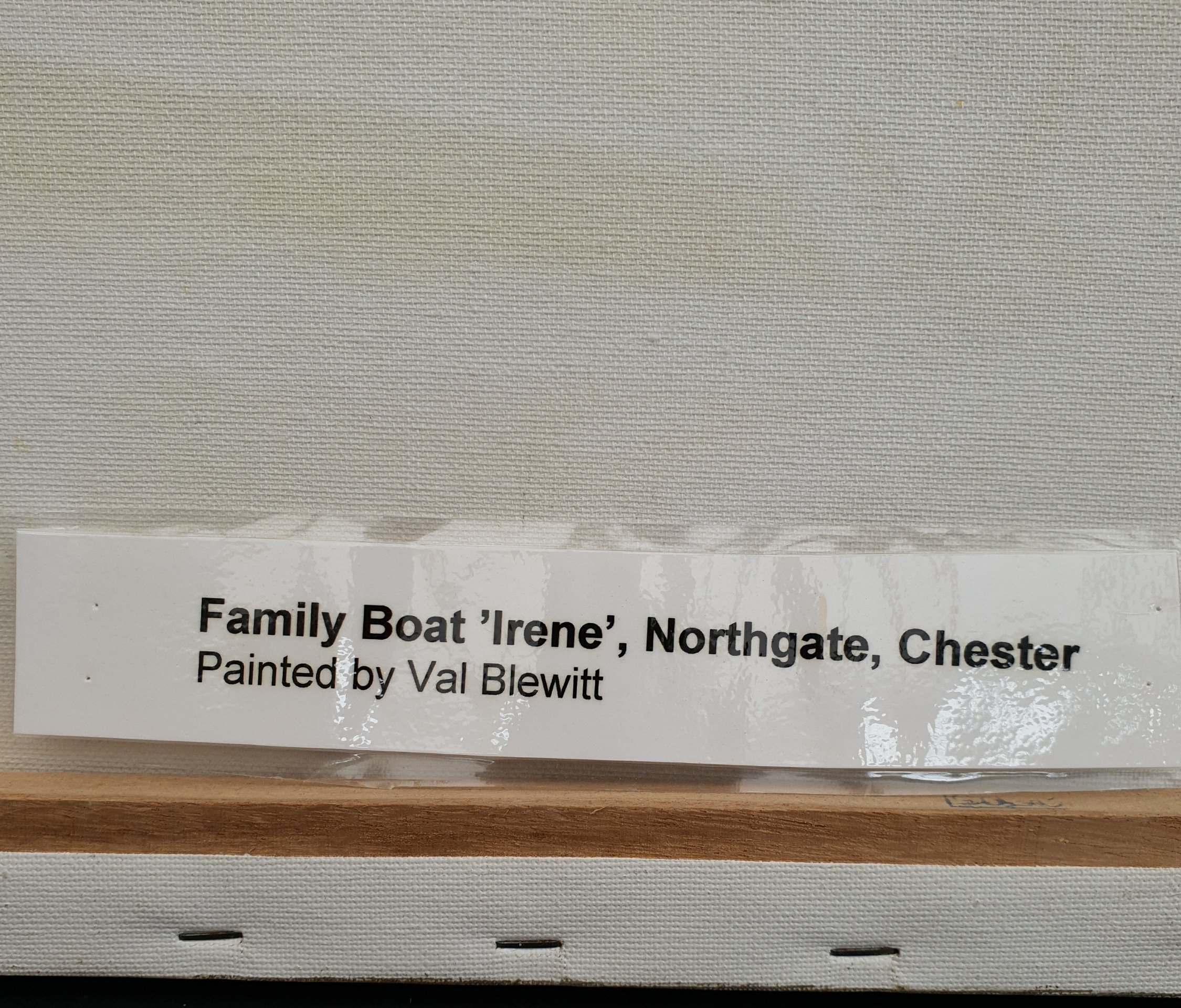 Vintage Art Painting Oil On Canvas Family Barge Northgate Chester Signed Lower Left - Image 3 of 4