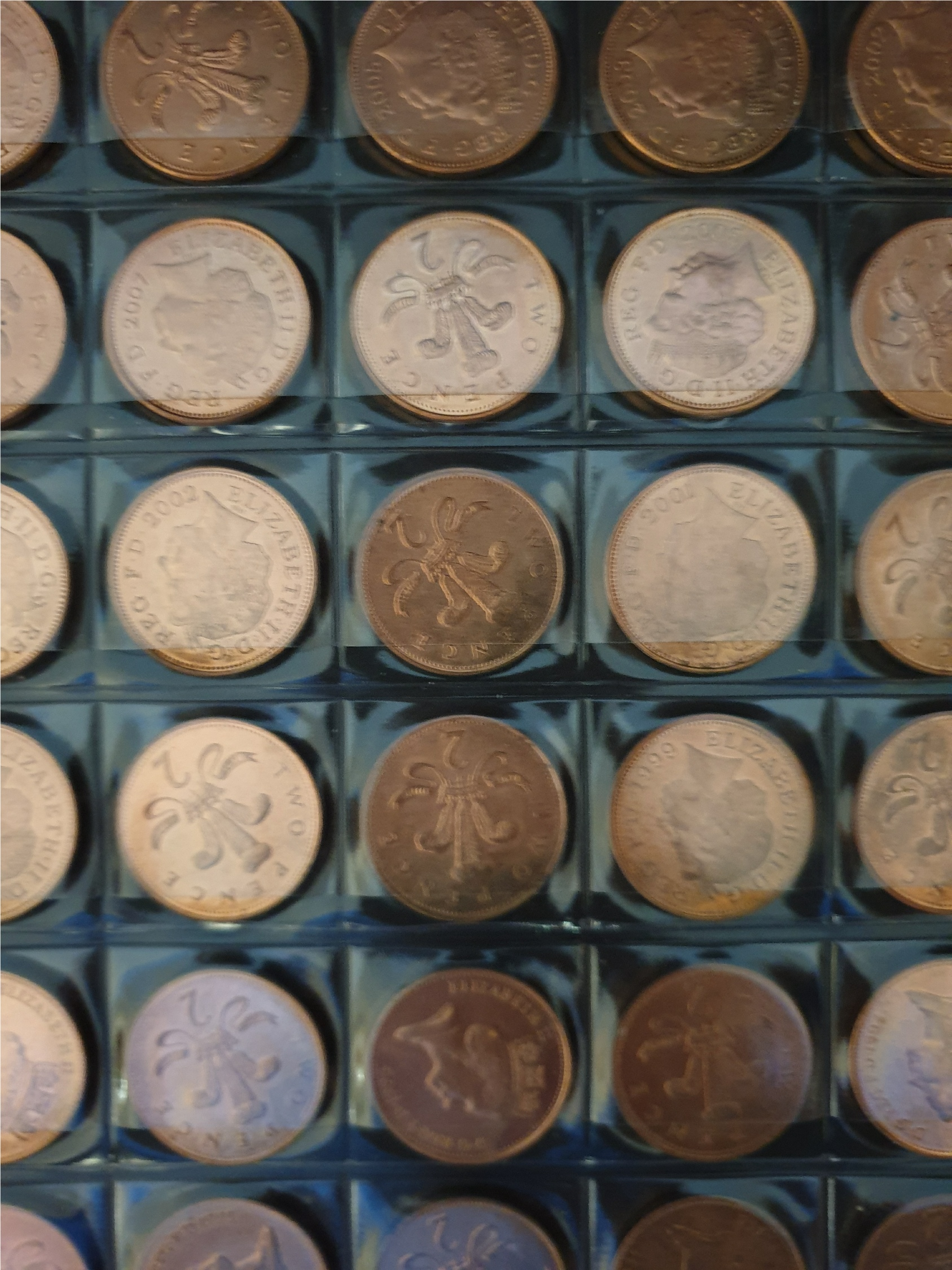Collectable Coins 61 Assorted British 2p Coins - Image 2 of 5