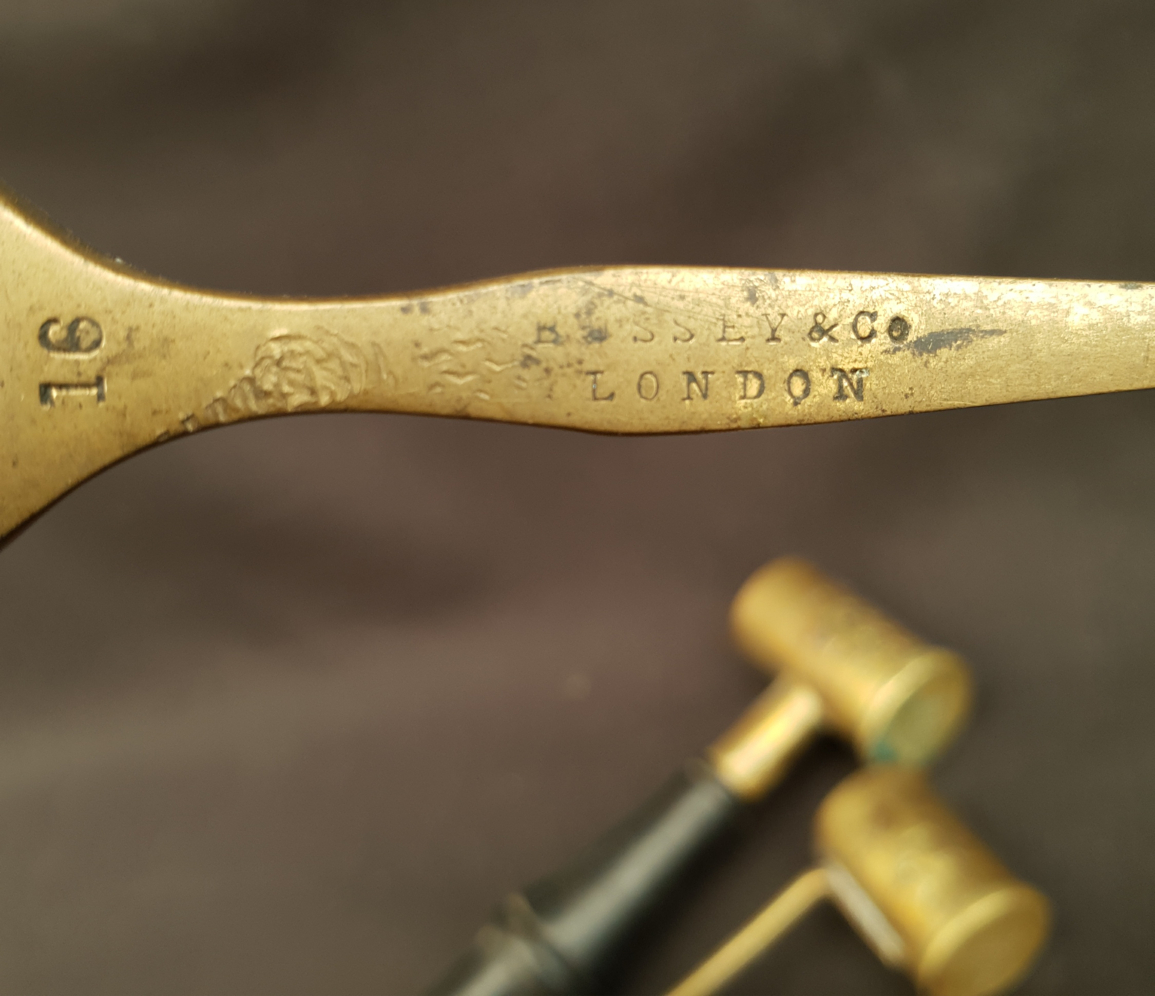 Antique Shooting 2 x Dixon & Co Black Powder Measures & Bussey Brass Measure - Image 4 of 4