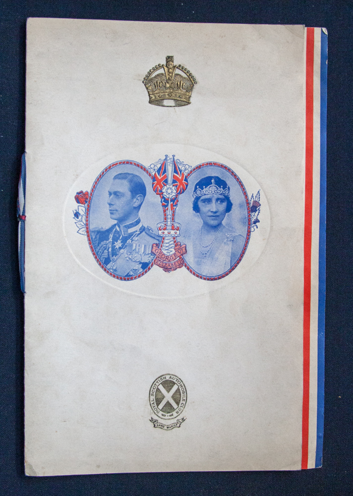 Lot 686 - Programme for Coronation banquet and ball for George VI 12 May 1937