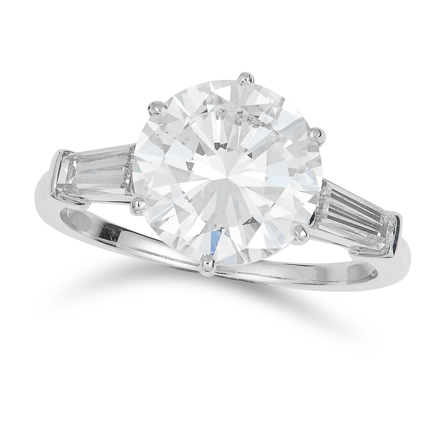 A 3.03 CARAT DIAMOND RING, VAN CLEEF AND ARPELS in platinum, set with a round cut diamond of 3.03