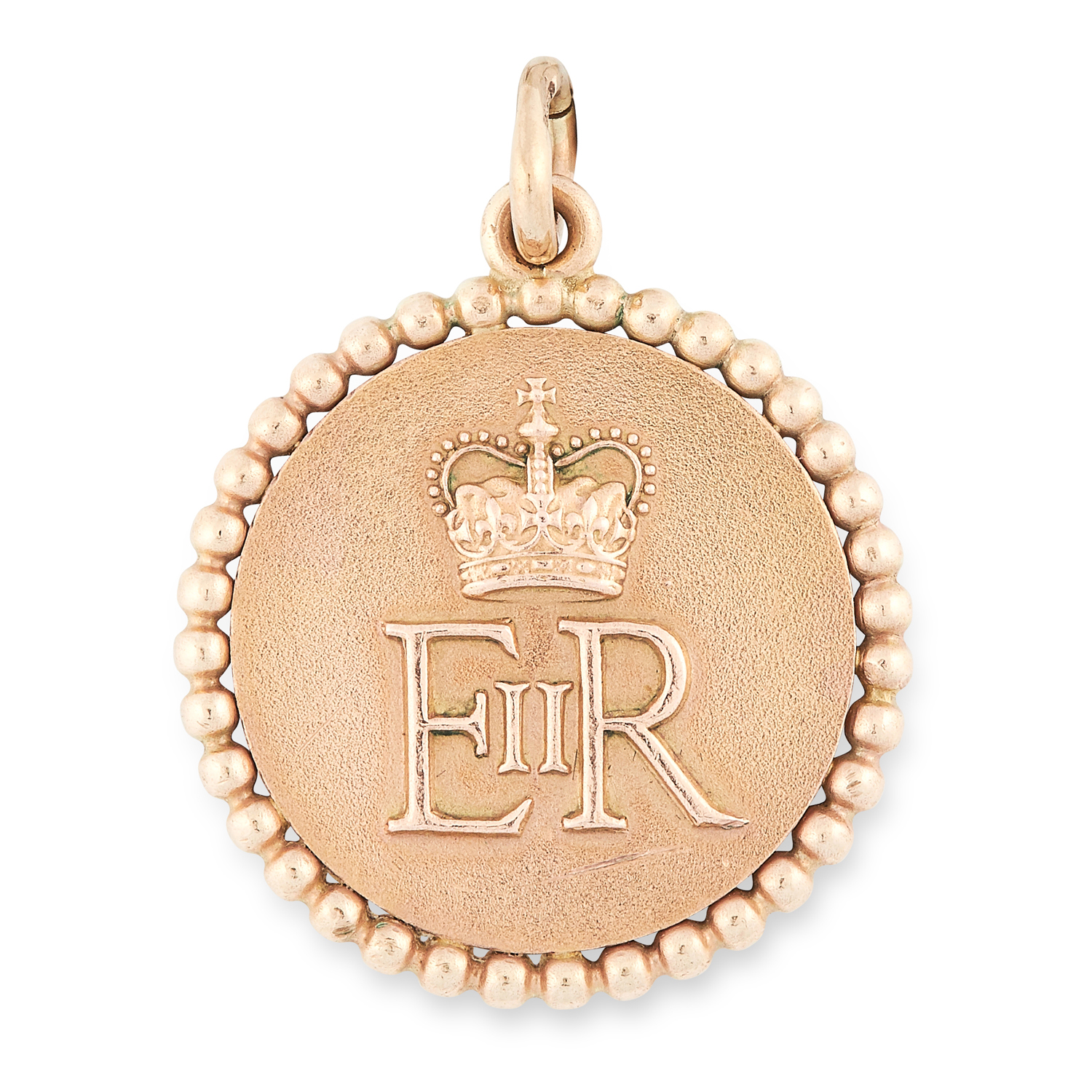 Los 226 - A ROYAL GOLD MEDALLION, CARTIER 1955 in 9ct yellow gold, with the royal cipher of Queen Elizabeth
