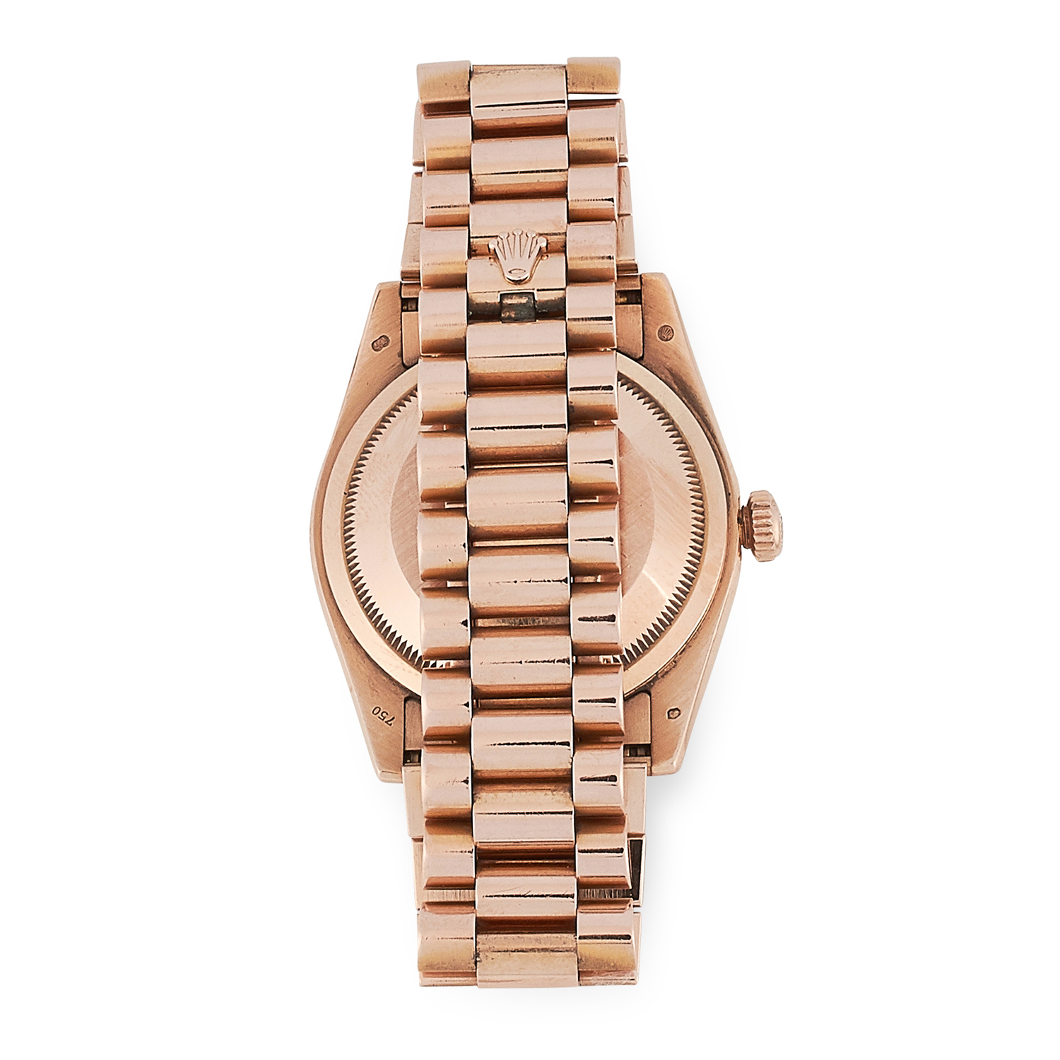 A LADIES OYSTER PERPETUAL DAY-DATE WRISTWATCH, ROLEX in 18ct rose gold, the rosé coloured dial, - Image 2 of 2