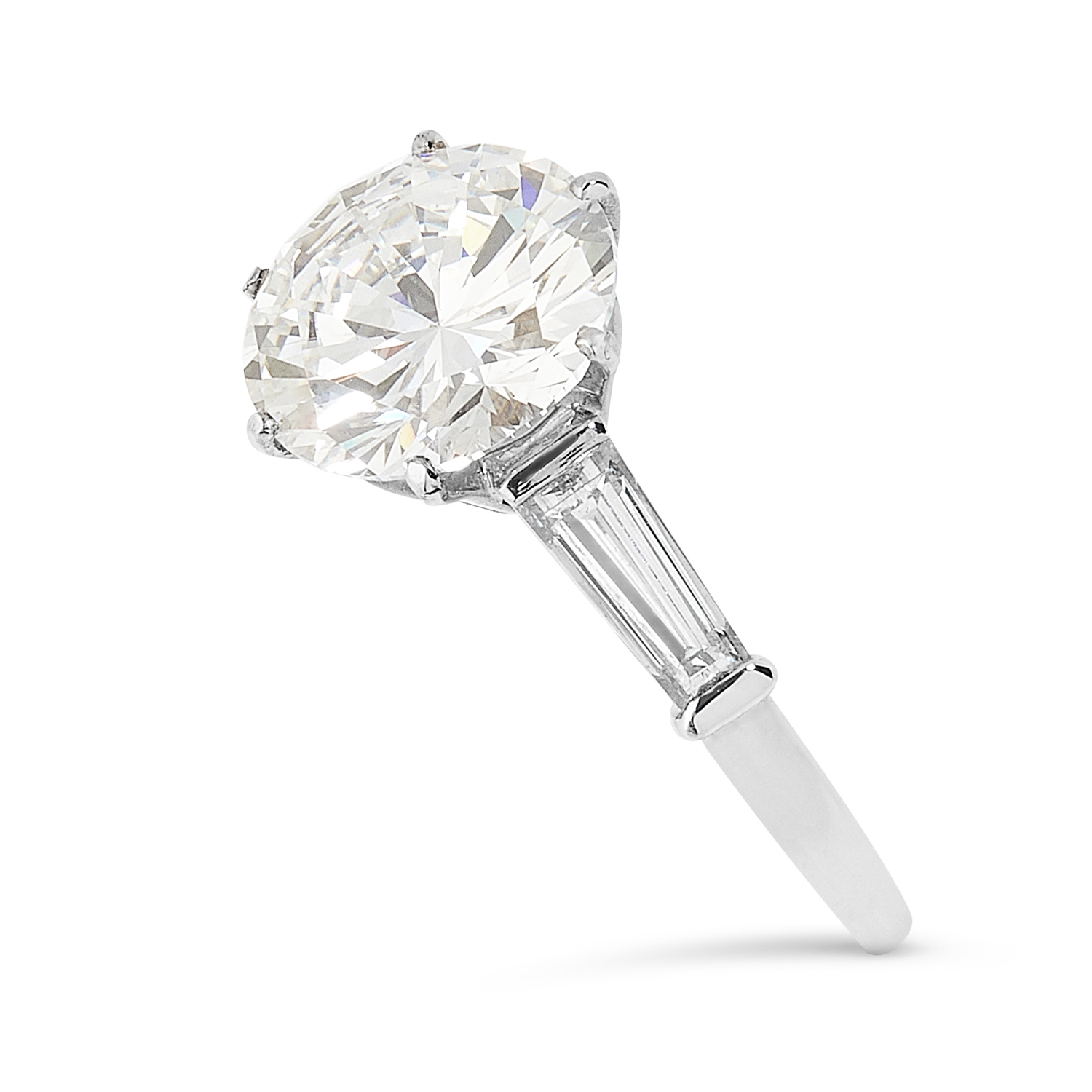 A 3.03 CARAT DIAMOND RING, VAN CLEEF AND ARPELS in platinum, set with a round cut diamond of 3.03 - Image 3 of 3