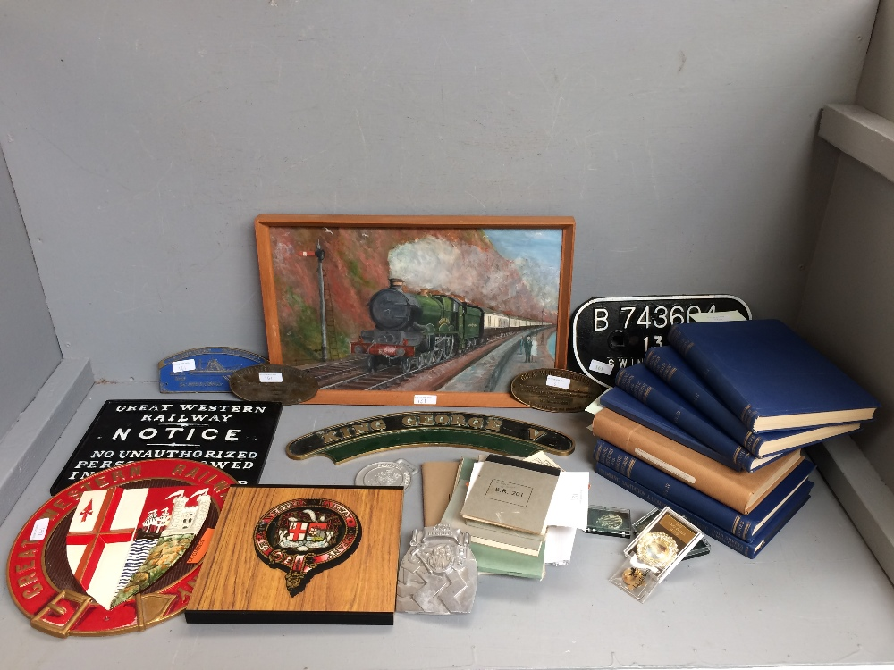 Lot 161 - Collection of GWR & other railwayana, many of the items are replicas