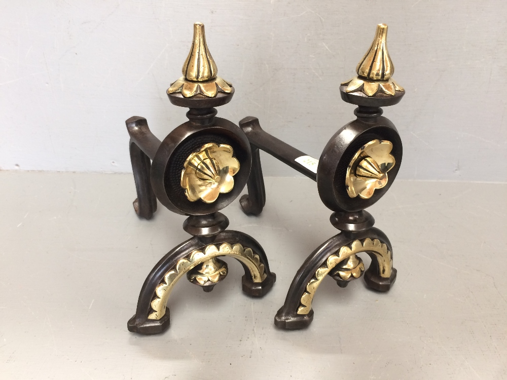 Lot 215 - Pair of Victorian fire dogs
