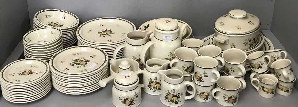 Lot 2 - Large quantity of china including Royal Worcester Evesham Vale & Royal Doulton dinner service