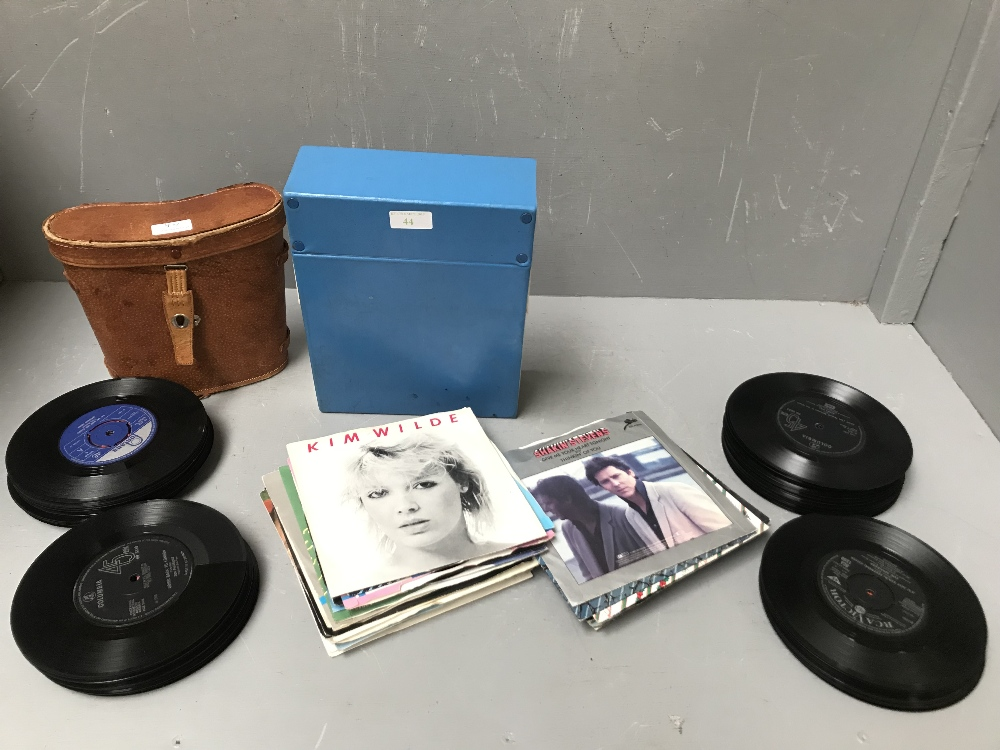 Lot 44 - Childs junior science kit with microscope & slide making materials (1960s), pair of Kalimar 7 x 50