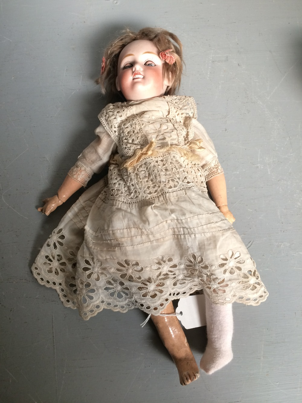 Lot 132 - Doll by Jules Verlingne with closing eyes & original clothing. Mark Petiet Francaise J Anchor V