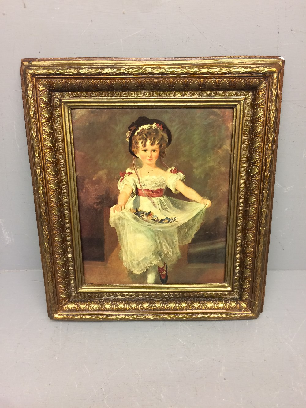 Lot 460 - C20th Olegraph 'The Young Dancer' 33 x 27 cm in gilt frame