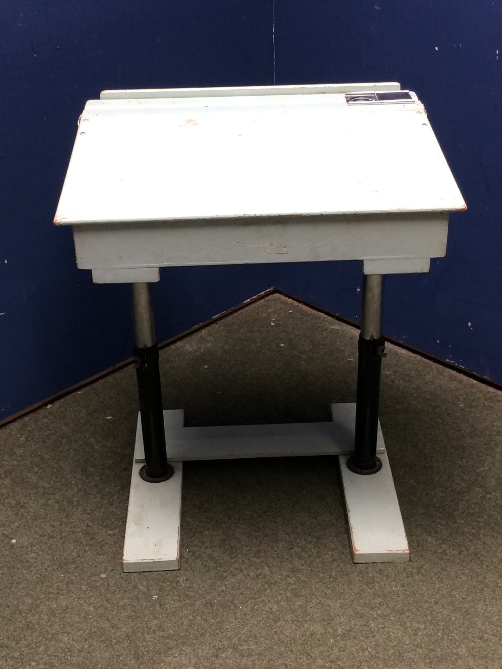 Lot 717 - 1950s childs desk with adjustable legs