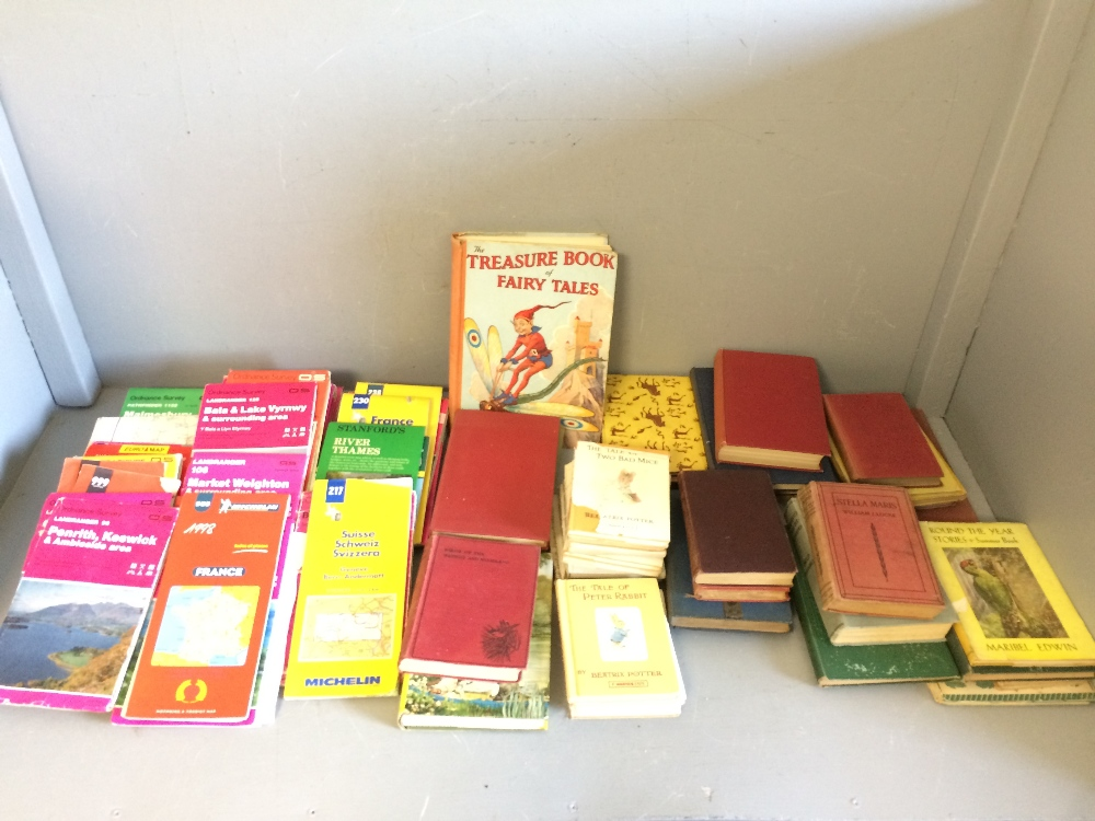 Lot 399 - Collection of GB & European Ordinance Survey & road maps & selection of books