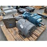 Lot of 2 Electric Motors and 1 Gearbox
