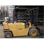 CATERPILLAR LP FORKLIFT, 6000LB CAP., 6.5' FORKS, 1730 HRS (DOES NOT INCLUDE PROPANE TANK)
