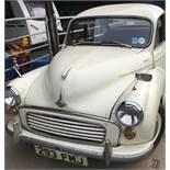 A 1962 Morris Minor two door saloon